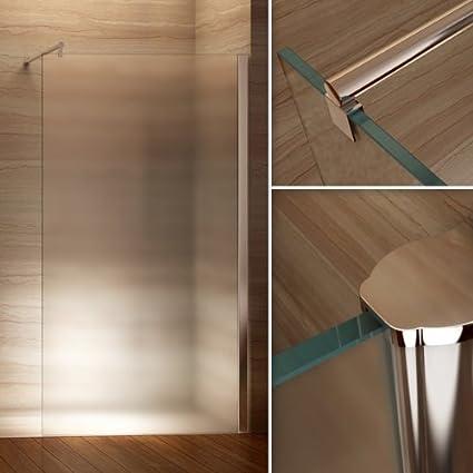 Duschabtrennung glas satiniert  Satinierte Walk In Dusche, 10mm STARK, Duschabtrennung aus ESG ...