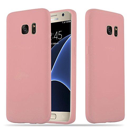 Cadorabo Hülle für Samsung Galaxy S7 - Hülle in Candy ROSA – Handyhülle Schutzhülle aus TPU Silikon im Candy Design - Ultra Slim Soft Back Cover Case Bumper