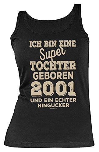 eburtstag Geschenk zum 18 Geburtstag Top für 18-jährige Mädchen Tank Top Damen super Tochter geboren 2001 Tops Tank Top ()