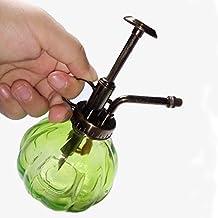 Vintage Regadera pequeña botella de cristal Herramientas de Jardinería para plantas bonsai Flores, verde