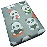 eVincE Cute Panda Facts Design Wrapping Papers to Enjoy Making Envelopes Scrapbooks, Crafts, Wrap Gadgets, 20x28-inch (Grey)