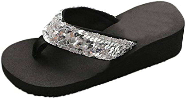 f5d0609ee68f45 HARRYSTORE Women s Women s Women s Summer Wedges Flip-Flops Sequins Anti-Slip  Sandals Slipper Wide Fit Shoes B07CNZDQRW Parent 208d6d
