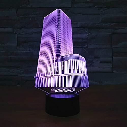 Nachtlicht LED Visuelle USB Kreative 3D Stadt Gebäude Tischlampe Schlafzimmer Nacht Baby Schlaf Beleuchtung Wohnkultur Leuchte Geschenk