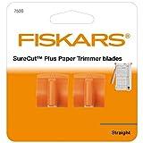 Fiskars Original Ersatzklingen für Papierschneidemaschine SureCut Plus, 2 Stück, Für Gerade Schnitte, SureCut Plus, Orange, 1020506