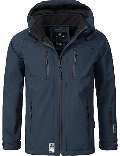 Marikoo Mountain Herren Softshell-Jacke Outdoorjacke NOAA (vegan hergestellt) Blau Gr. XL
