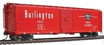 Preisvergleich Produktbild Walthers Proto - 50' AAR Single-Door Boxcar - Ready to Run -- Chicago, Burlington & Quincy #21312 (Chinese Red, white) - HO by Walthers Proto