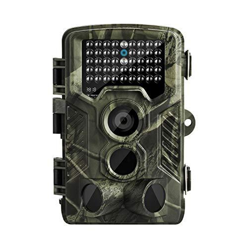 """MixMart Wildkamera Jagdkamera 16 MP 1080P HD IP65 Wasserdicht 120° Weitwinkel 20m Nachtsicht 2.0\"""" Display mit Bewegungsmelder Überwachungskamera Fotofalle für Outdoor Natur Garten Haussicherheit"""