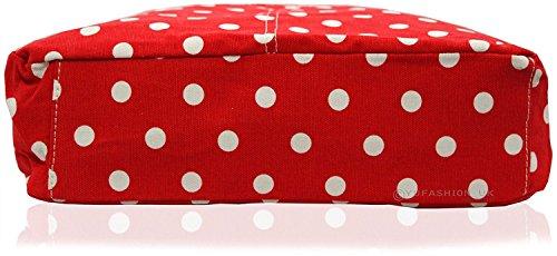 Kukubird Vari Animali Ancoraggio E Ombrello Crossbody Design Top-manico A Tracolla Del Totalizzatore Small Polka Dots Red