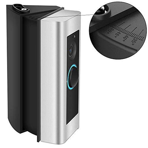 CAVN Einstellbare Winkelhalterung Kompatibel mit Ring Video Doorbell Pro Winkelhalterung (30 bis 55 Grad), CAVN Winkel Adapter Montageplatte Halterung Wedge Corner Kit für Ring Video Pro, Schwarz