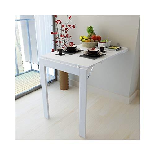 LPYMX Tavolo Pieghevole Multifunzionale, Tavolo da Cucina di casa a Parete,  Tavolo Pieghevole (Colore : Bianca)