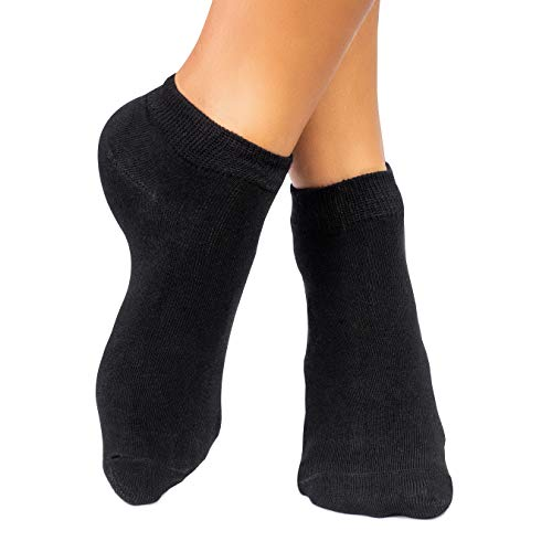 lampox Sneaker ♻Bambussocken - 6 Paar - Atmungsaktiv - Komfortbund - Geruchshemmend - Klimaregulierend - Saugfähig - Reduziert Fußschweiß - Superweich (39-42, Schwarz)