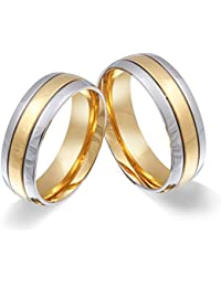 Juwelier Schönschmied - Zwei Freundschaftsringe Partnerringe Verlobungsringe Asilar Edelstahl inkl. persönliche Lasergravur LANr110HH