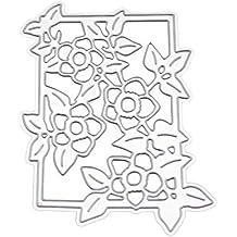 Shangwelluk Fondo de la Flor Troqueles de Corte Borde de Flores Tarjetas Decorativas Bordes Metal Plantilla