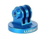 LuxeBell Trépied en Aluminium Mount Adapateur pour GoPro HERO 5 4 3 3+ 2 1, SJ Caméscopes-Bleu