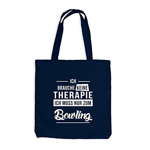 Jutebeutel - Ich Brauche Keine Therapie Bowling Navy