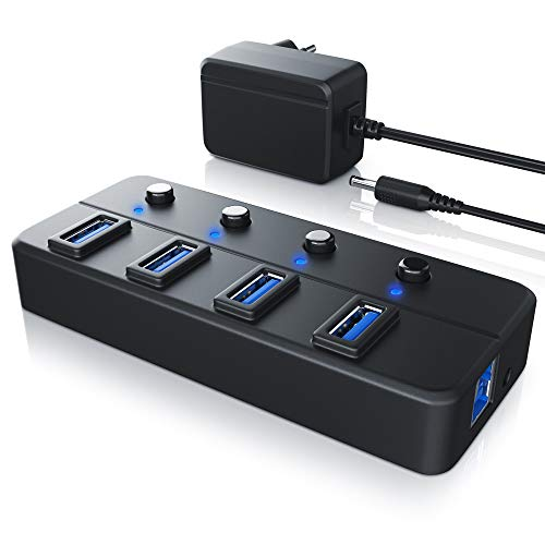 CSL-Computer USB 3.0 Hub 5 GB s de Transferencia de Datos con Interrup