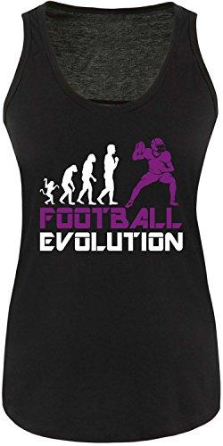 EZYshirt® Football Evolution Damen Tanktop Schwarz/Weiss/Violett