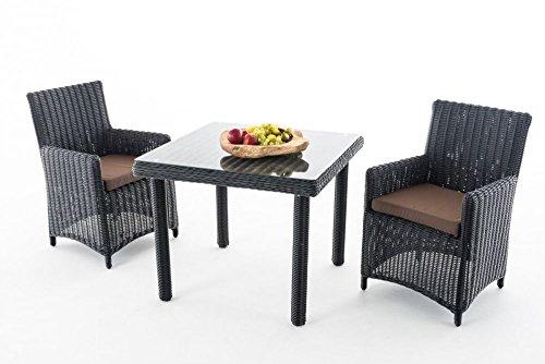 Gartenmöbel Dorado K100 schwarz / terra-braun