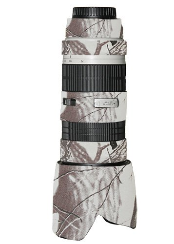 LensCoat Lens Cover for Canon 70-200 f/2.8 no is Camouflage Neoprene Camera Lens Protection (Realtree AP Snow) Lenscoat Lens Cover