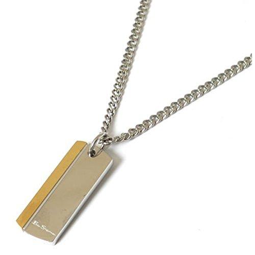 ben-sherman-silvertone-metallo-goldtone-e-dog-tag-ciondolo-su-catena-18