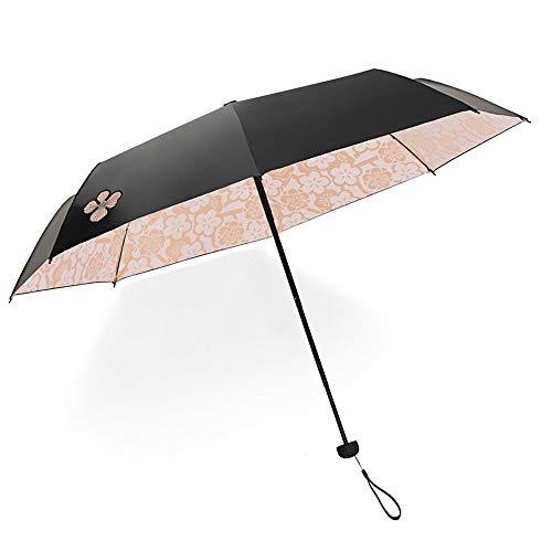 Jian E Sonnenschutz UV-Sonnenschutz für Frauen UV-Schirm mit doppeltem Verwendungszweck (Farbe : Orange) -