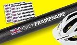 FAHRRAD RAHMEN HELM personalisiert name Aufkleber Sticker 12ER SET mit flagge