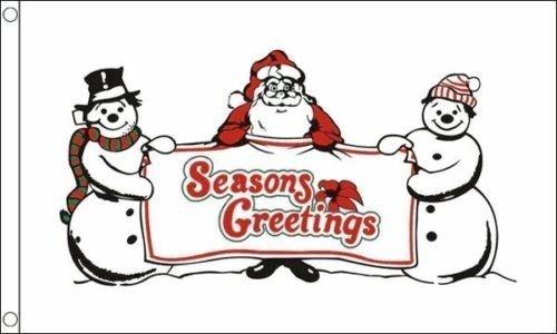 Schnee Herren Seasons Greetings Weihnachten Feier 5ft x3ft (150cm x 90cm) Flagge + 59mm knopf-abzeichen
