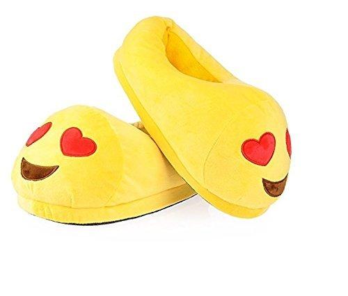 Slippers Vier Jahreszeiten - EU 36-41 Männer und Frauen Emoticons Shit Plüsch Indoor Hause Pantoffeln Herz