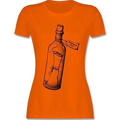 Statement Shirts - Geschenk Flaschenpost - tailliertes Premium T-Shirt mit Rundhalsausschnitt für Damen Orange