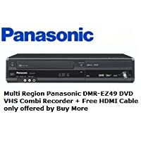 Multi región Panasonic DMR-EZ49VEBK grabadora de DVD VHS Combi + free cable HDMI chapado en oro solo ofrecido por comprar más