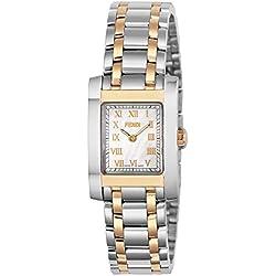 Fendi mujeres del reloj Classico Color Blanco Perla Dial f702240blanco