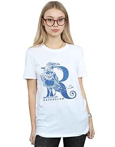Absolute Cult Harry Potter Women's Ravenclaw Glitter Boyfriend Fit T-Shirt
