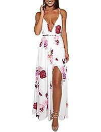 �� Vestido de mujer, ♡Xinantime♡ Mujer Summer Sundress Vestido largo de fiesta floral sexy de Boho Vestido de playa