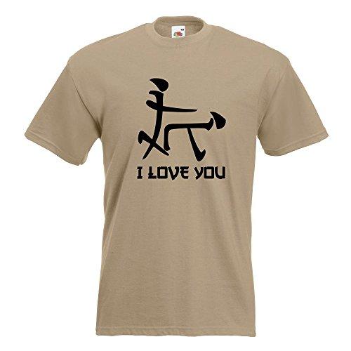 Kiwistar I Love YOU Schriftzeichen T-Shirt in 15 verschiedenen Farben  Herren Funshirt bedruckt Design