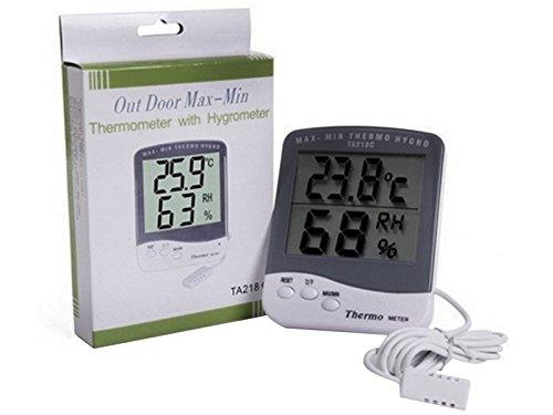 LCD Digital drahtlose elektronische Raum- und Außentemperatur Hygrometer