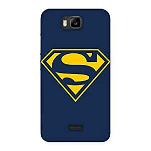 Radiant Super Yellow Blue Back Case Cover for Honor Bee