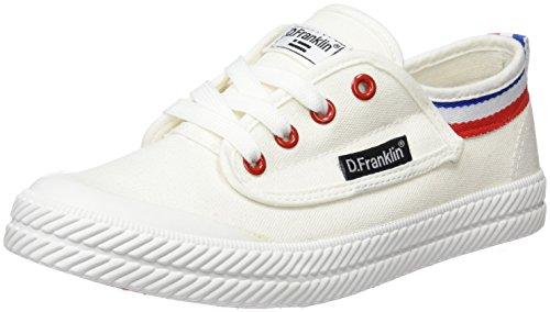 D. Franklin Hvk18902, Sneakers Basses Mixte Adulte Blanc Cassé (White)