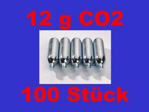 100 x 12g Co2 Kapseln für Softair, Painball, Luftgewehre oder Luftpistolen