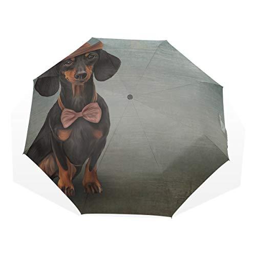 Reiseregenschirm Schöne Schöne Hut Ölgemälde Anti Uv Compact 3 Falten Kunst Leichte Faltbare Regenschirme (außerhalb Druck) Winddicht Regen Sonnenschutz Regenschirme Für Frauen Mädchen Kinder -