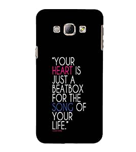 EPICCASE Heart & Song Mobile Back Case Cover For Samsung Galaxy A5 (Designer Case)