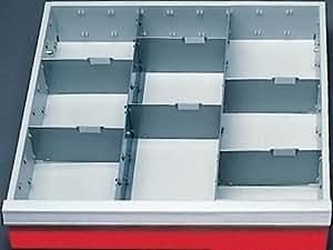 schubladeneinsatz serie t500 4 mittelfachschienen mit trennw nden schubladenschr nke. Black Bedroom Furniture Sets. Home Design Ideas