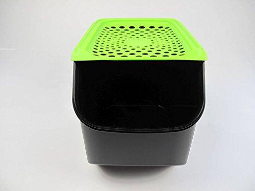 TUPPERWARE Organizador Modular de 8,3 L para cebollas y ajos negro verde
