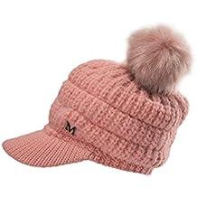 DEELIN Hombres Mujeres Invierno Cap SóLido Color Protector De OíDo Slouchy  Bola Sombrero De Color SóLido 9403d557d2c