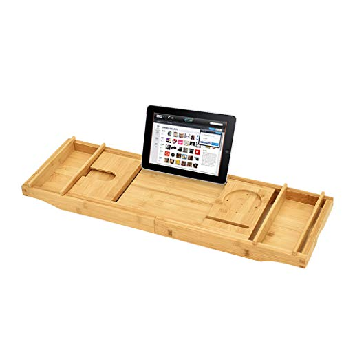dewannenablage mit ausziehbaren Seiten, iPad-Ablage und Weinglas-Halter ()