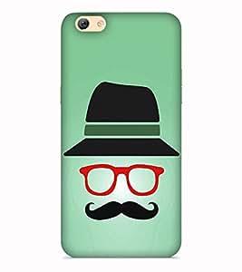 Printvisa Moustache Much Chasma Goggles Top Hat Designer Hard Back Case For Vivo Y53