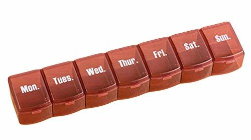Gj Schokolade (Tragbarer 7 Grids Week Für Pill Organizer Convenient Pille Fall-Schokolade)