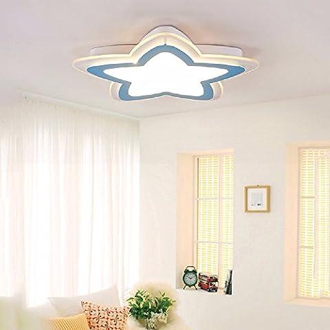 CNBBGJ Kinderzimmer Leuchten, Kreative LED-Deckenleuchten, Cartoon star Schlafzimmer leuchten, warme Romantische kindergarten Balkon Lampen, blau