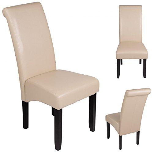 Esszimmerstuhl Sanzaro Stuhl Küchenstuhl Polsterstuhl Stuhlgruppe Stuhl Beige