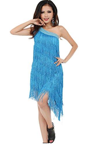 donne-perline-una-spalla-nappe-serata-vestito-sexy-latina-da-danza-donna-sky-blue-m