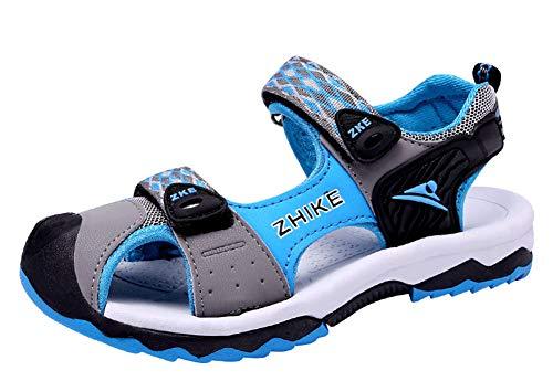 Gaatpot Unisex-Kinder Sandalen Jungen Mädchen Outdoor Trekking-& Wanderschuhe Sandalette Strand Sport Sommer Schuhe Blau 31.5EU=32CN -